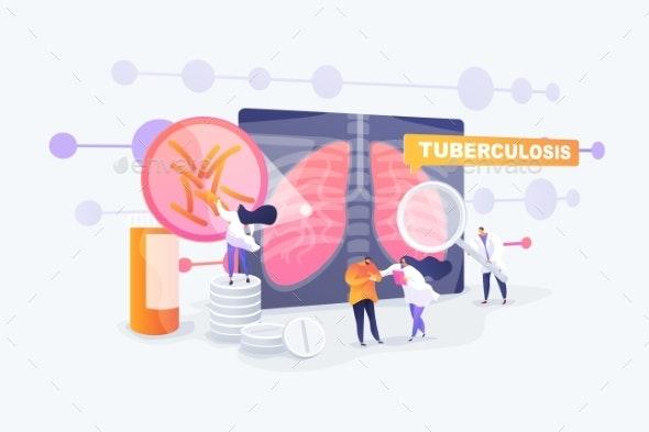 Tuberculosis Concept Vector Illustration - Health/Medicine Conceptual