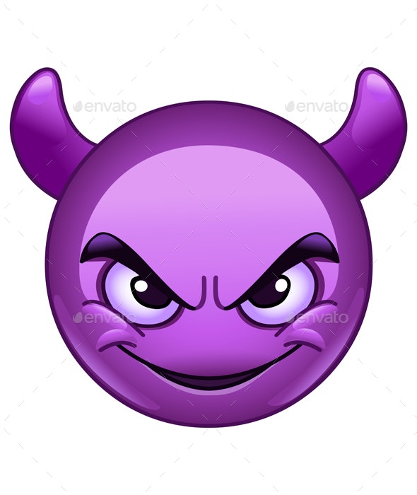 Smiling Face with Horns Emoticon - Halloween Seasons/Holidays