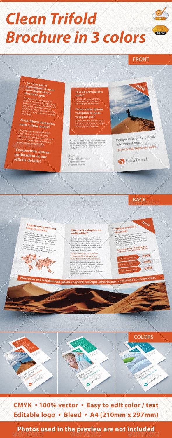 Clean Trifold  - Corporate Brochures
