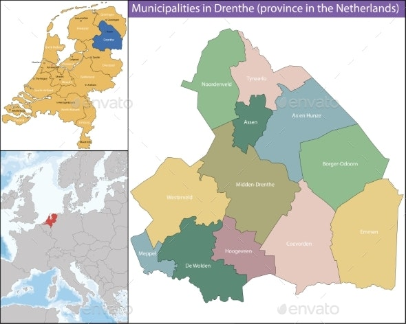 Drenthe is a Province of the Netherlands - Miscellaneous Vectors