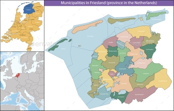 Friesland is a Province of the Netherlands - Miscellaneous Vectors