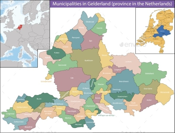 Gelderland is a Province of the Netherlands - Miscellaneous Vectors