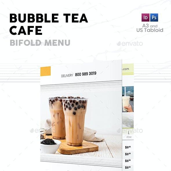 Bubble Tea Bifold / Halffold Menu 4