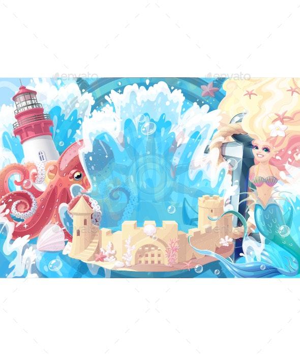 Sea Background - Backgrounds Decorative