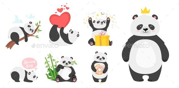 Panda Bear - Miscellaneous Vectors