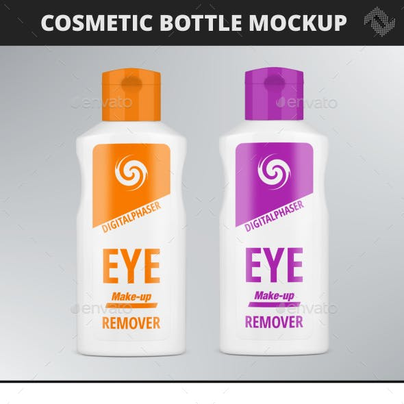 Cream Lotion Cosmetic Bottle Mockup