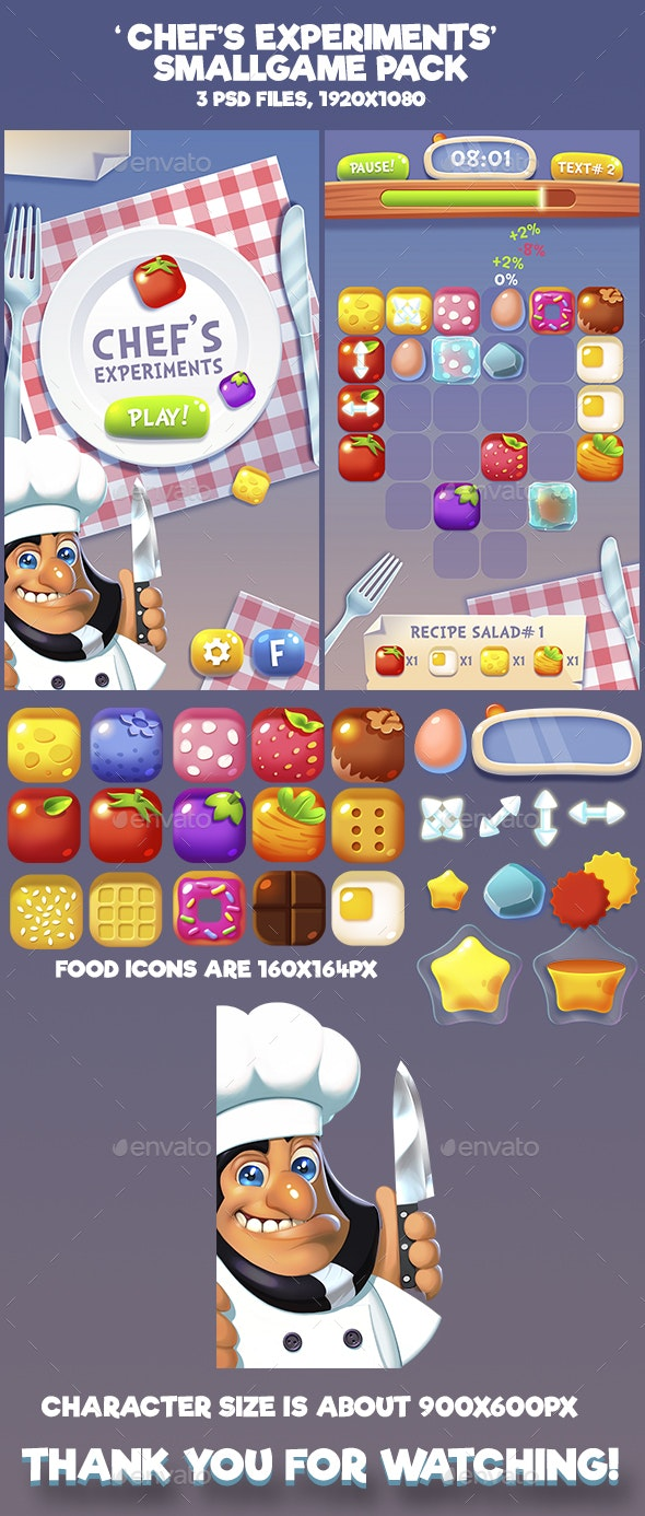 Chef Experiments Mini Game Kit - Game Kits Game Assets