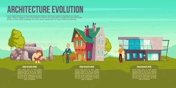 Architecture Evolution Cartoon Vector Concept - Technology Conceptual