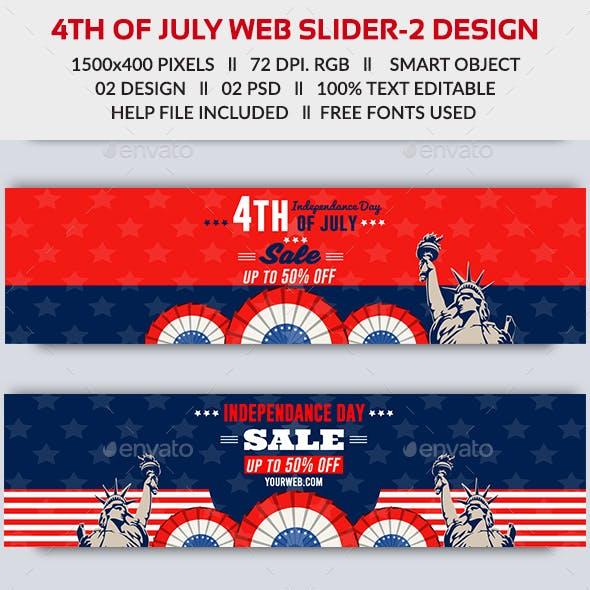 4th of July Web Slider-2 Design- Image Included