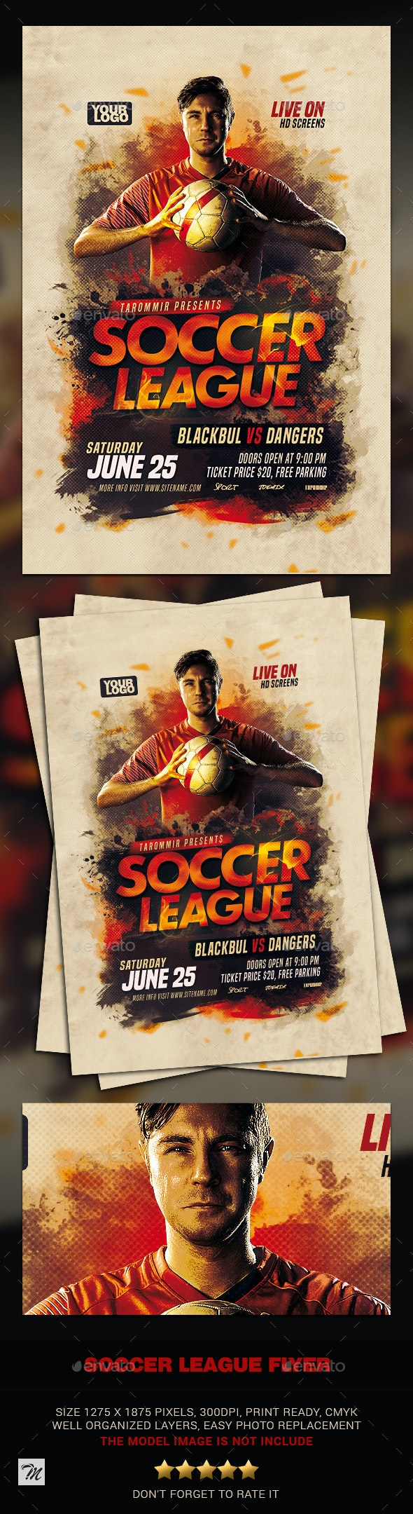 Soccer League Flyer - Sports Events