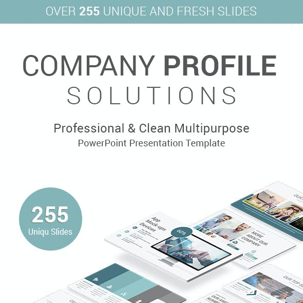 Stunning Company Profile PowerPoint Presentation Template