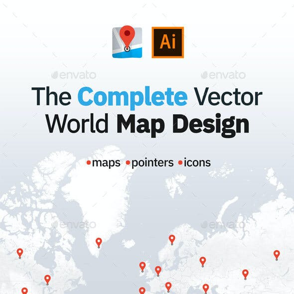 The Complete Vector World Map Design