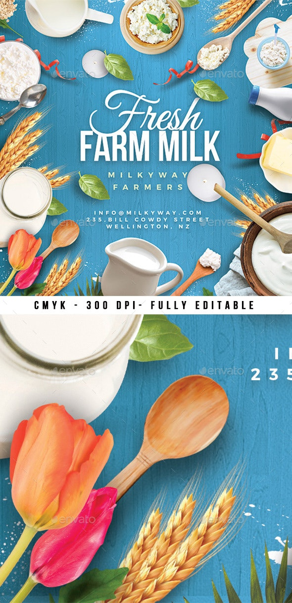Fresh Dairy Farm Product Flyer - Miscellaneous Events