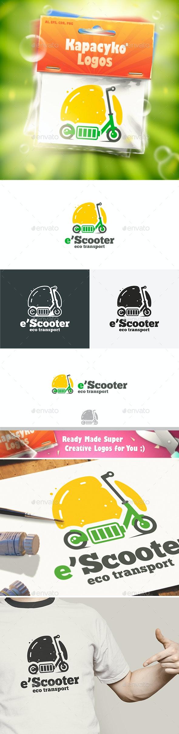 Electric Scooter Logo - Symbols Logo Templates