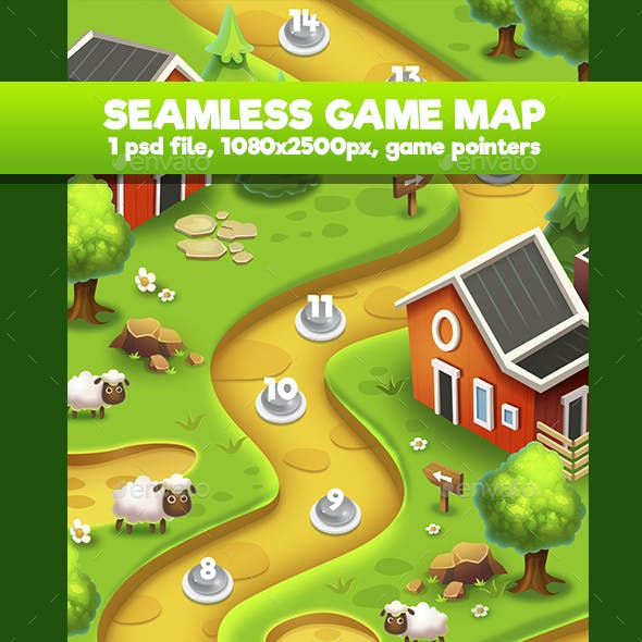 Farm Seamless Game Map