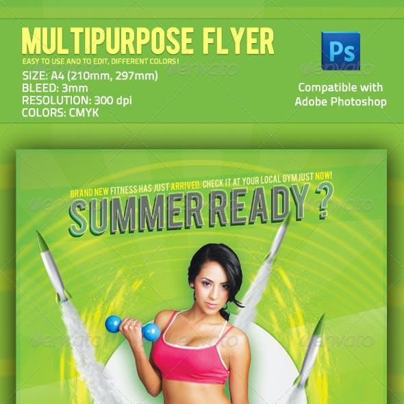 Multipurpose Flyer - Fitness, Music, Product etc.