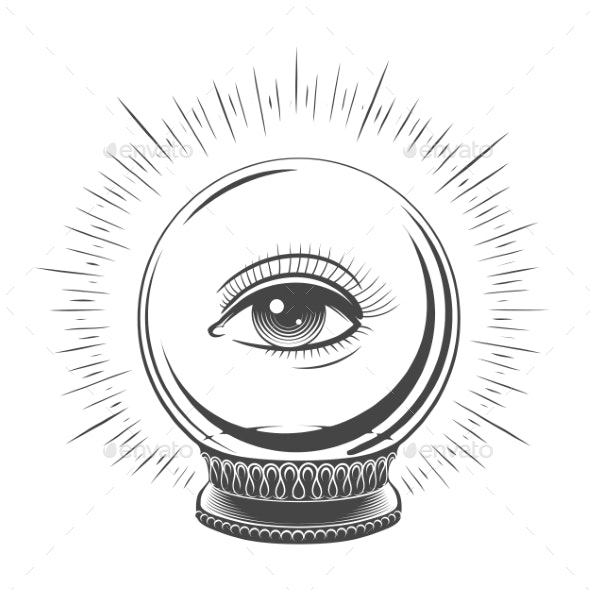Crystal Ball with Eye - Miscellaneous Vectors