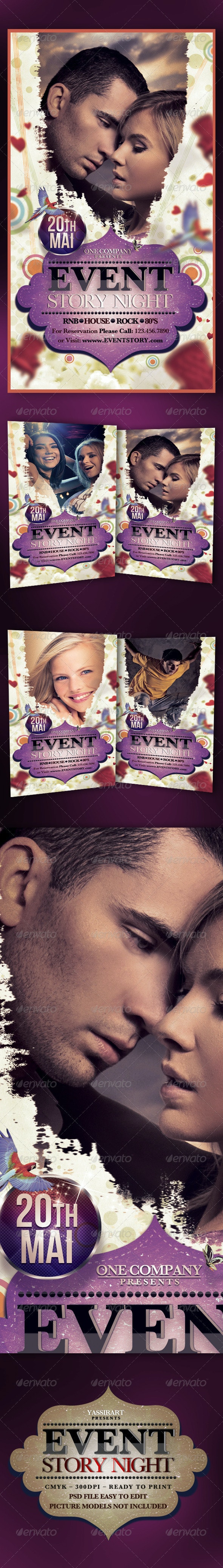 Event Story Night Flyer - Clubs & Parties Events