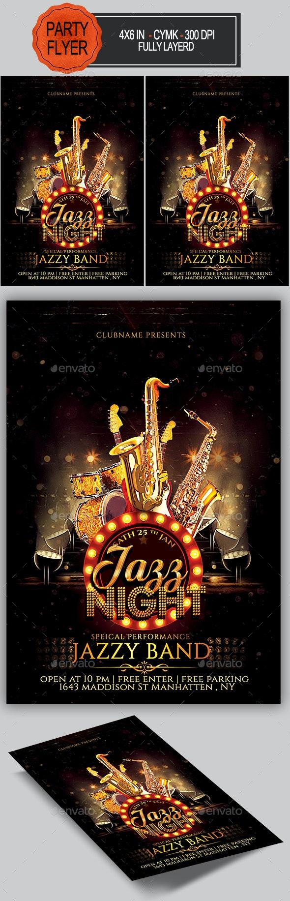 Jazz Flyer - Concerts Events