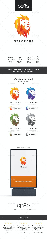 Valorous Lion Logo - Animals Logo Templates