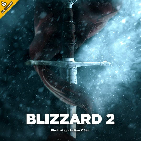 Blizzard 2 CS4+ Photoshop Action