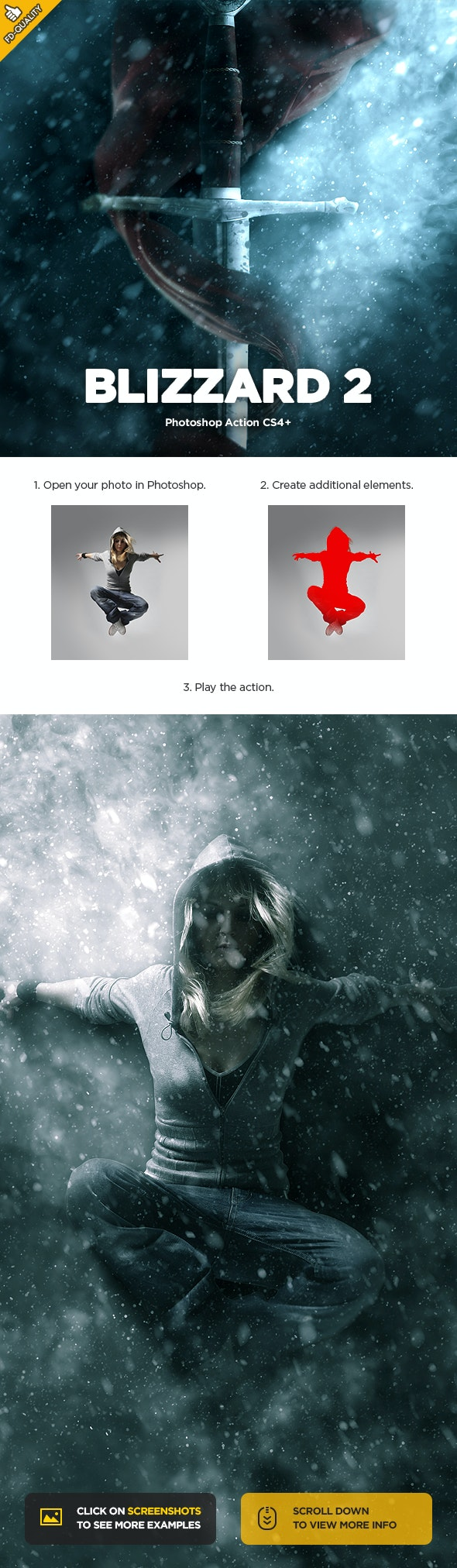 Blizzard 2 CS4+ Photoshop Action - Photo Effects Actions