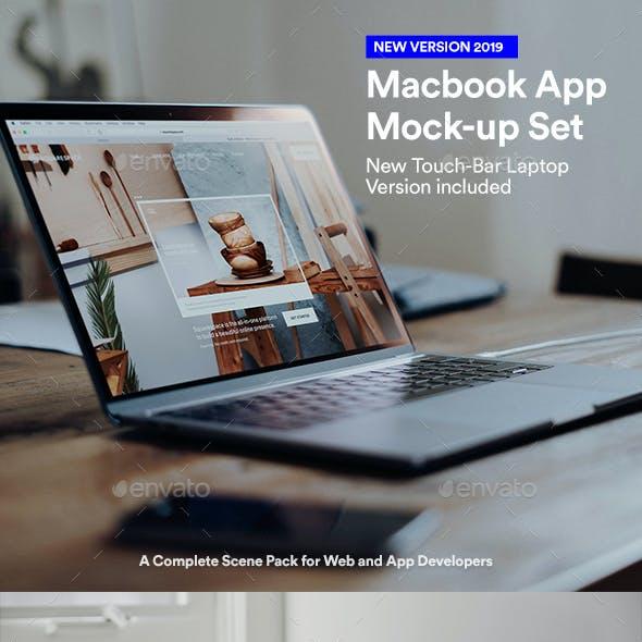 Psd Laptop Web App UI Mockups