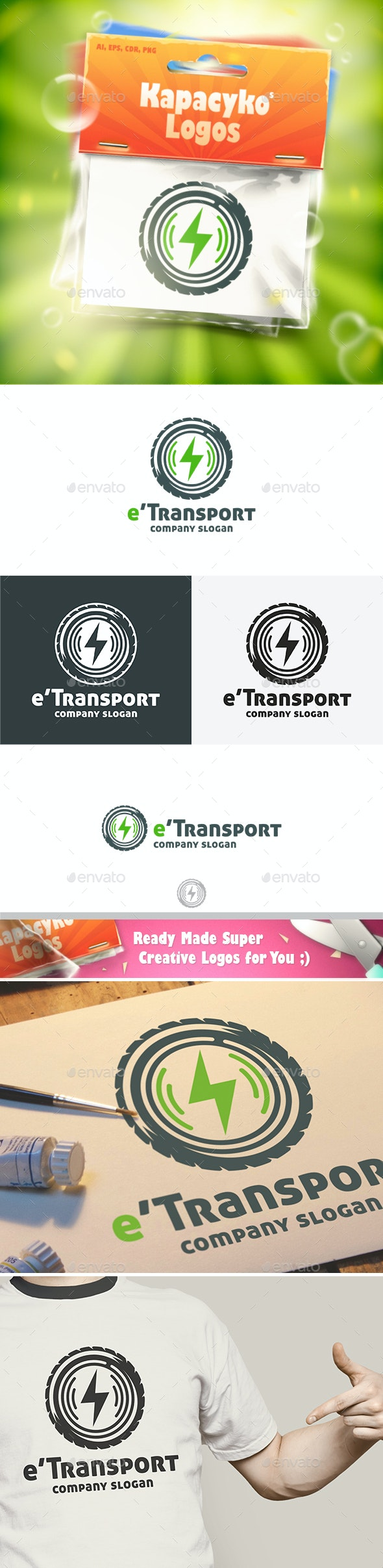 Electric Transport Logo - Abstract Logo Templates