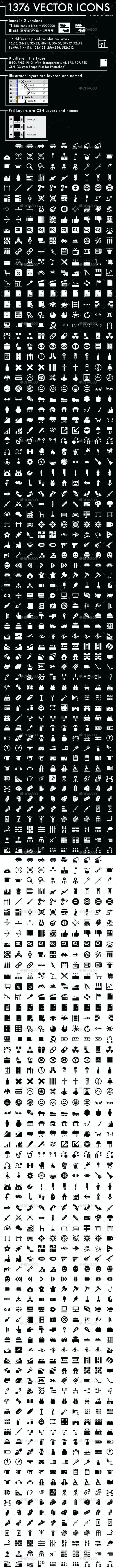 1376 Vector Icons - Miscellaneous Icons