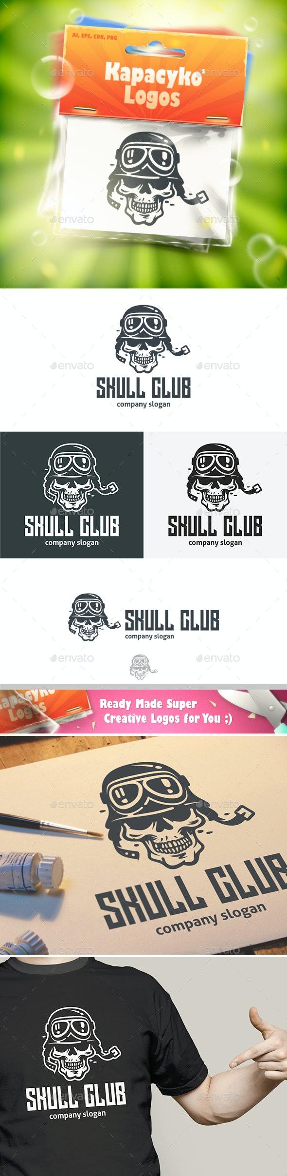 Skull Club Logo - Humans Logo Templates