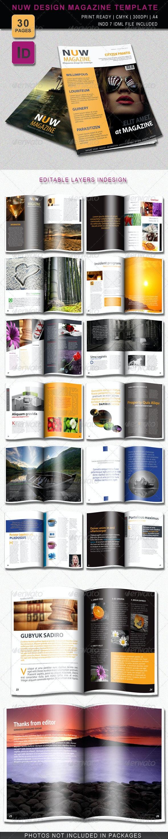Nuw Design Magazine Template