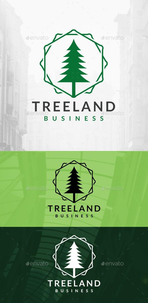 Tree Hexagons Logo - Nature Logo Templates