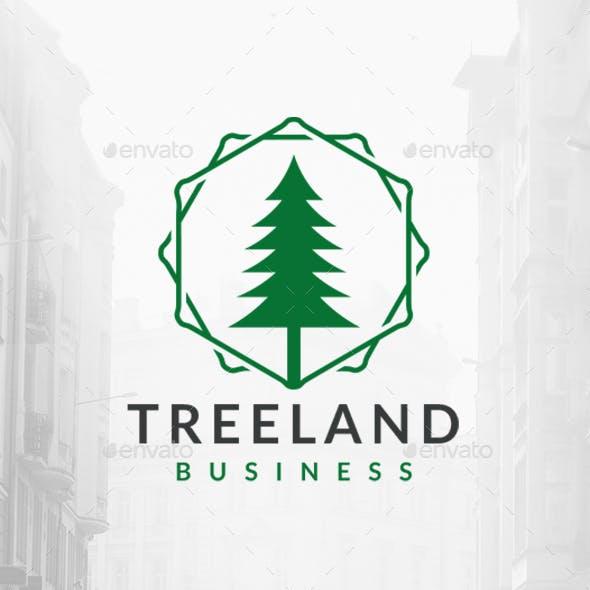 Tree Hexagons Logo