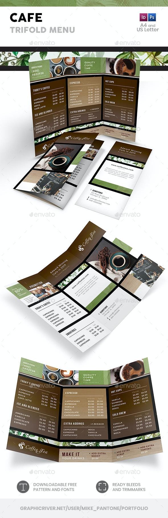 Cafe Trifold Menu 3 - Food Menus Print Templates