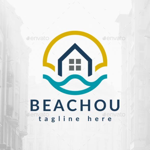 Beach Home Wave Logo