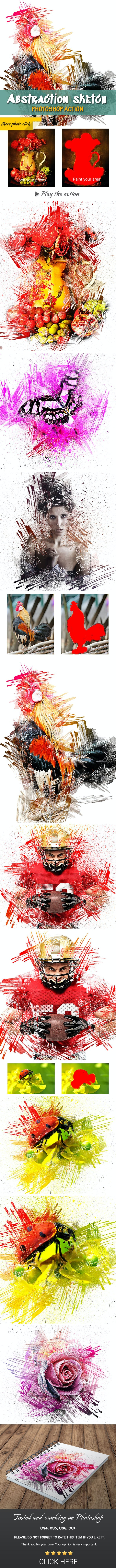 Abstraction Sketch Photoshop Action - Photo Effects Actions