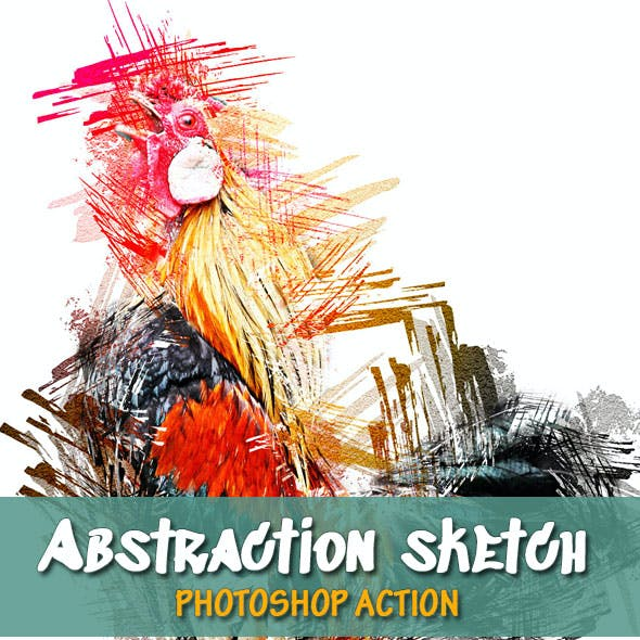 Abstraction Sketch Photoshop Action