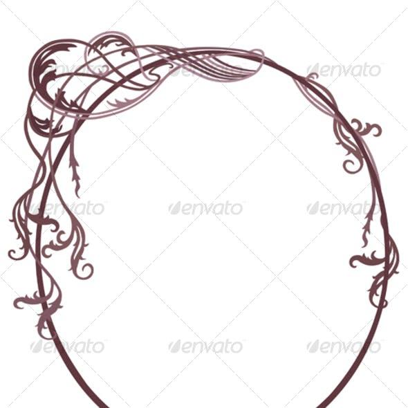 Swirling Art Nouveau Frame