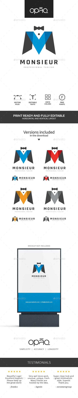 Mister M Letter Logo - Letters Logo Templates