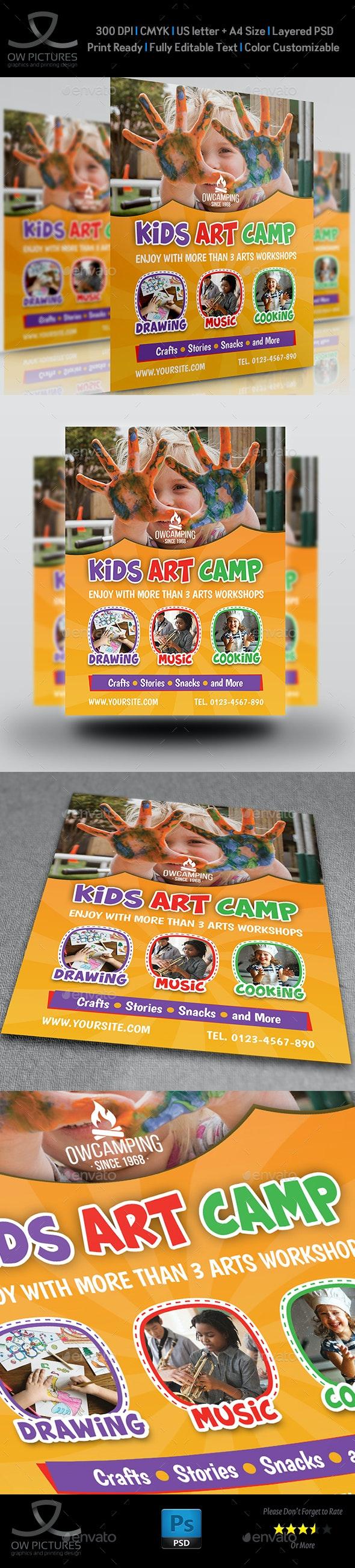 Kids Art Camp Flyer Template - Events Flyers
