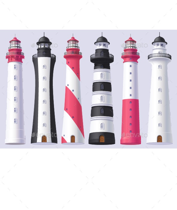 Lighthouse Set - Objects Vectors