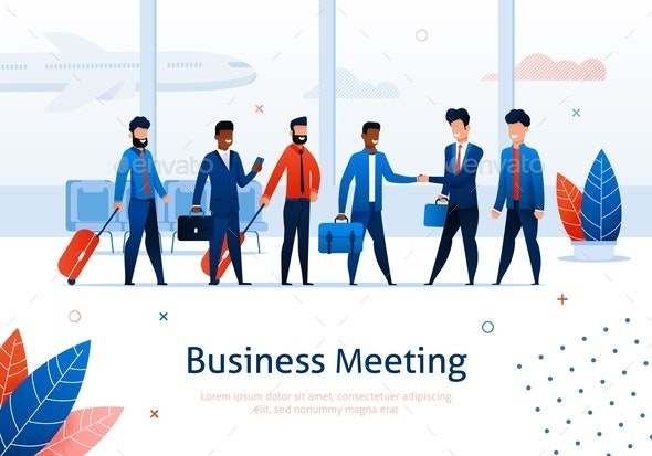 Business Meeting Airport Terminal - Concepts Business