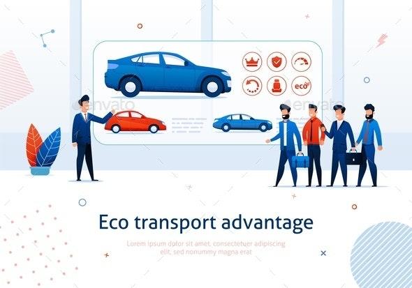 Eco Transport Advantage Electric Car Benefits - Miscellaneous Vectors