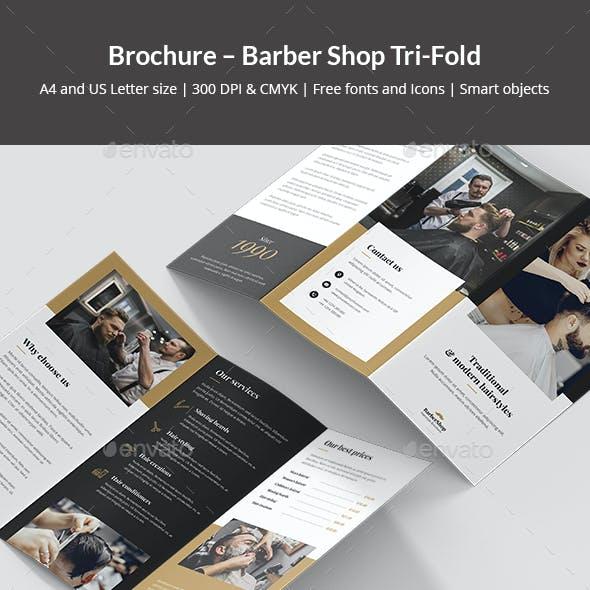 Brochure – Barber Shop Tri-Fold