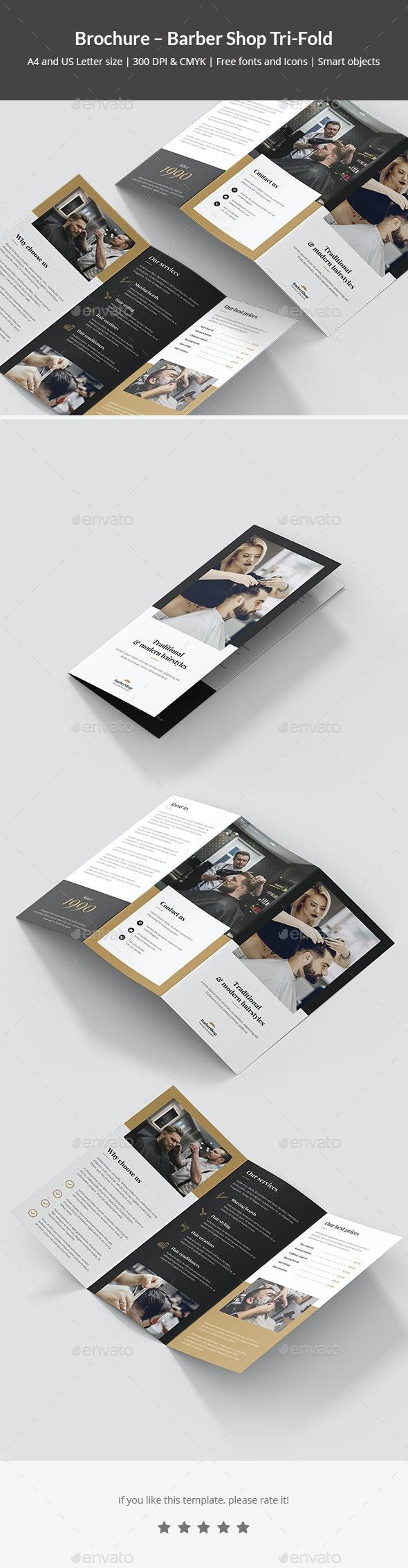 Brochure – Barber Shop Tri-Fold - Corporate Brochures