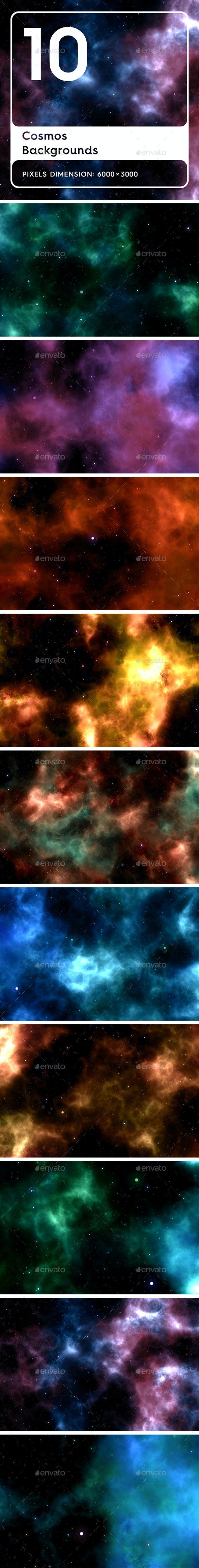 20 Cosmos Backgrounds - Abstract Backgrounds