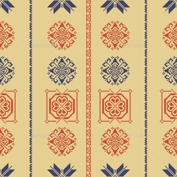 Traditional Norway Style Seamless Knitting Pattern