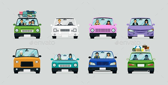 People Driving - Travel Conceptual