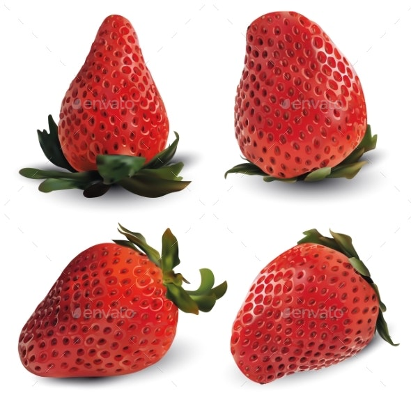 Strawberry Realistic Collection - Food Objects