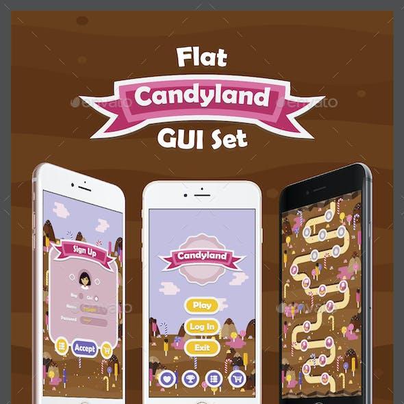 Flat Candyland GUI Set